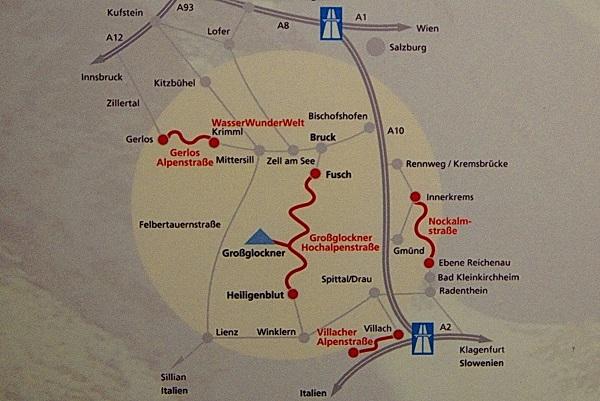 Схема расположения панорамных дорог Национального Парка