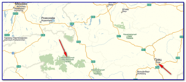 Карта путешествия: Hohe Tauern