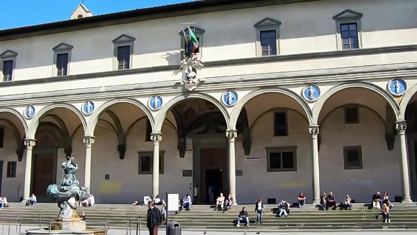Крытая галерея Воспитального дома (Флоренция, Италия)