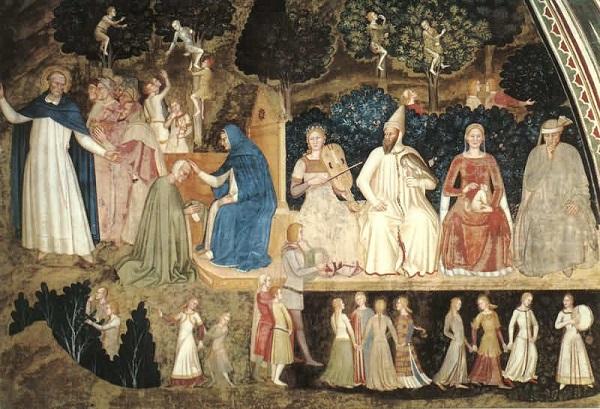 Фрагмент фресок Испанской Капеллы (Флоренция, Италия)