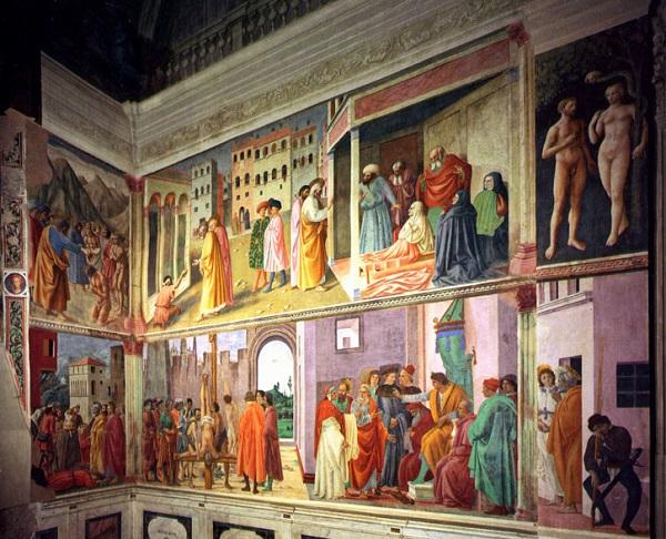 Фрагмент фресок капеллы Бранкаччи (Флоренция, Италия)