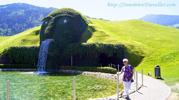 """The underground museum """"Swarovski Crystal Worlds""""."""