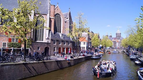 Амстердам. Прогулка по каналам.