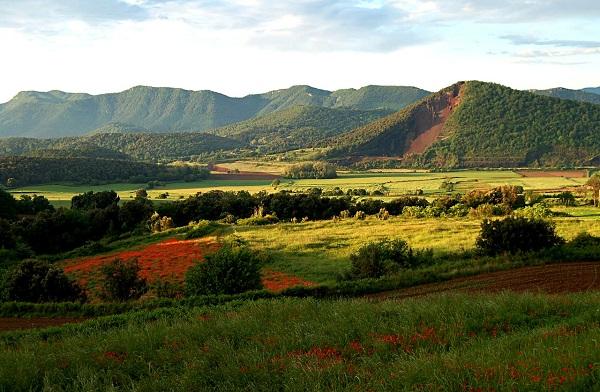 Так выглядит Ла Гарроча (край вулканов) в наши дни. Это Национальный парк Испании.